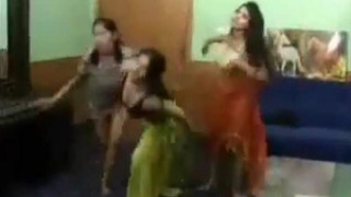3 girls dancing and getting naked