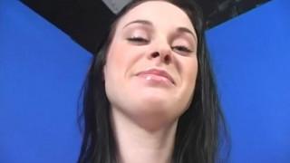 cute brunette wife gets a bbc creampie