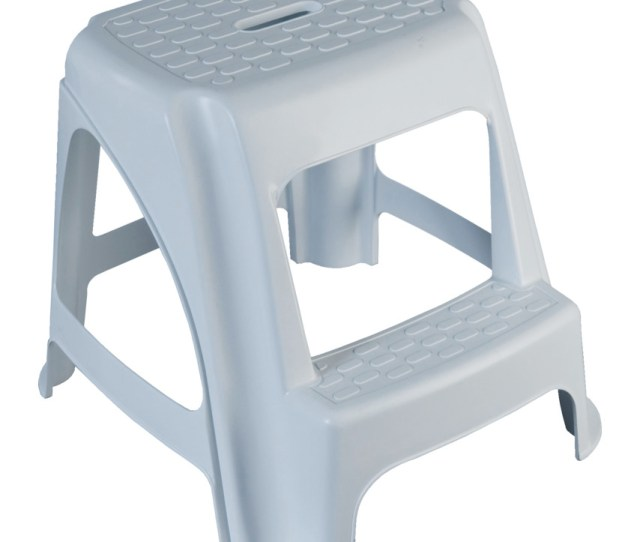 Plastic Step Stool White Plastic Step Stool