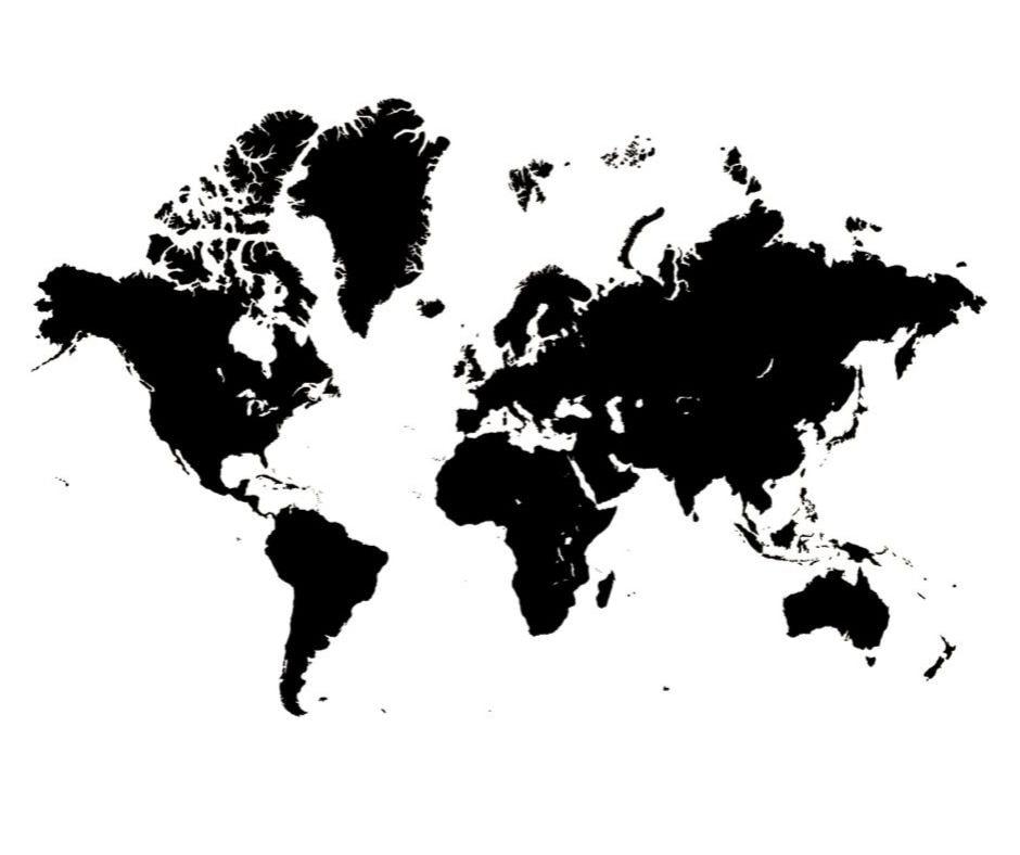 carte vierge du monde france europe