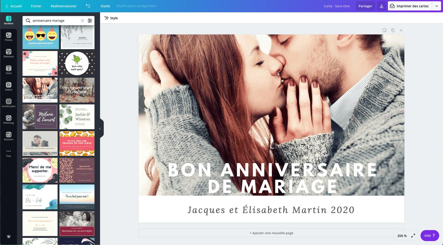 d anniversaire de mariage gratuite