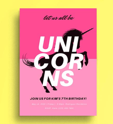 40 unicorn party ideas canva