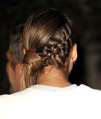 Jessica Alba Hairstyle: Braided Side Ponytail