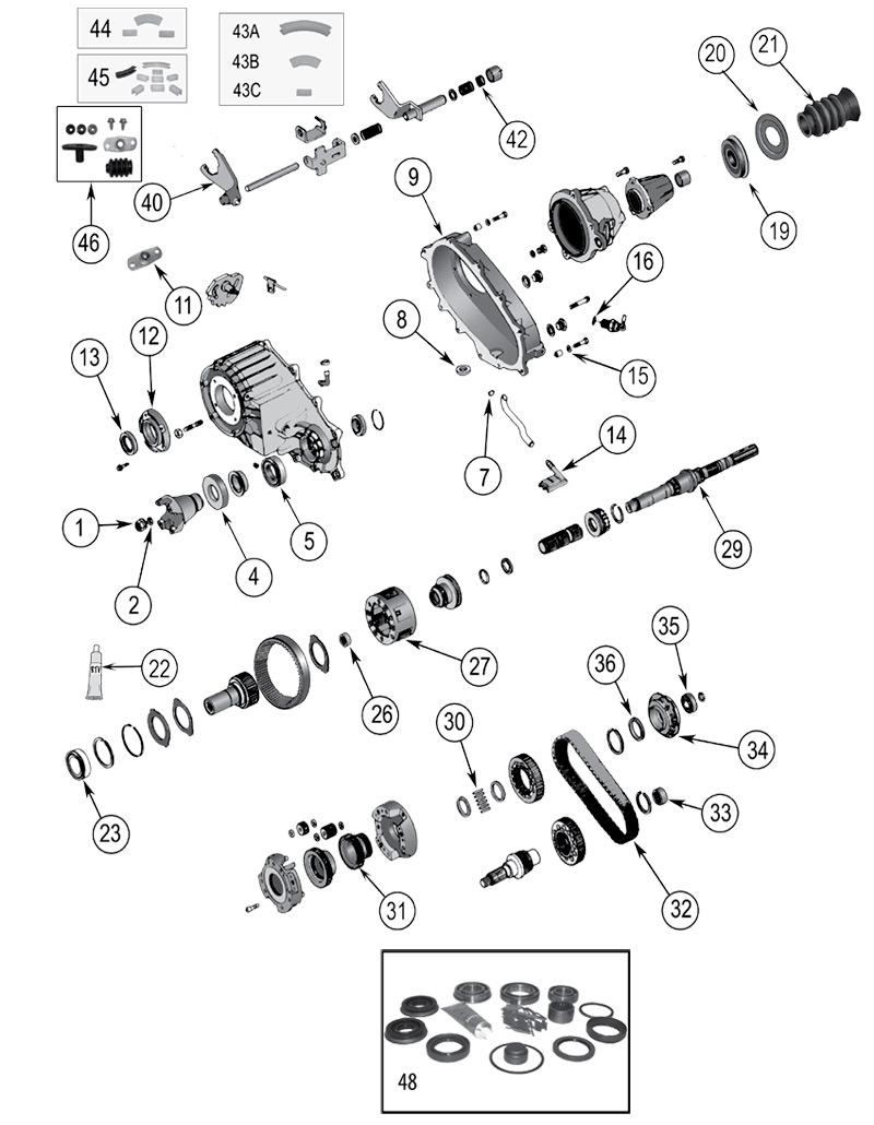 Diagrama Caja de transferencia Jeep WJ/WG Grand Cherokee