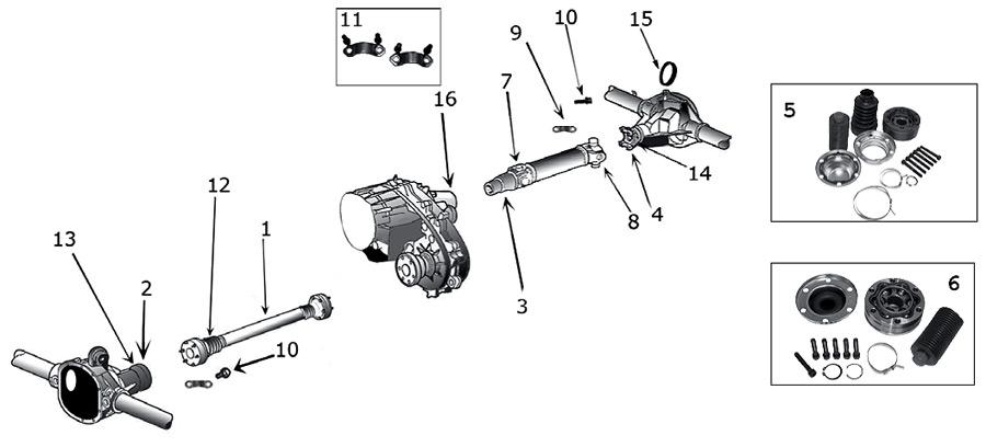 Diagrama Ejes Jeep WJ/WG Grand Cherokee 1999/2004