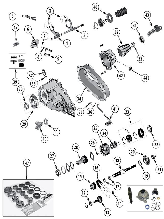 Diagrama Caja de transferencia Jeep XJ Cherokee 1984/2001