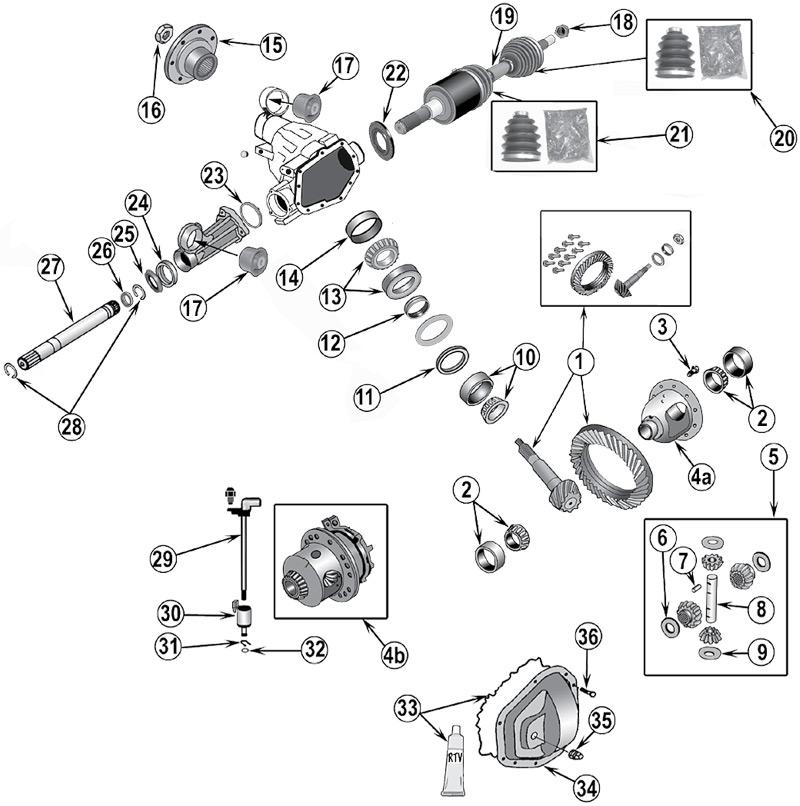 2005 Jeep Liberty Parts Diagram