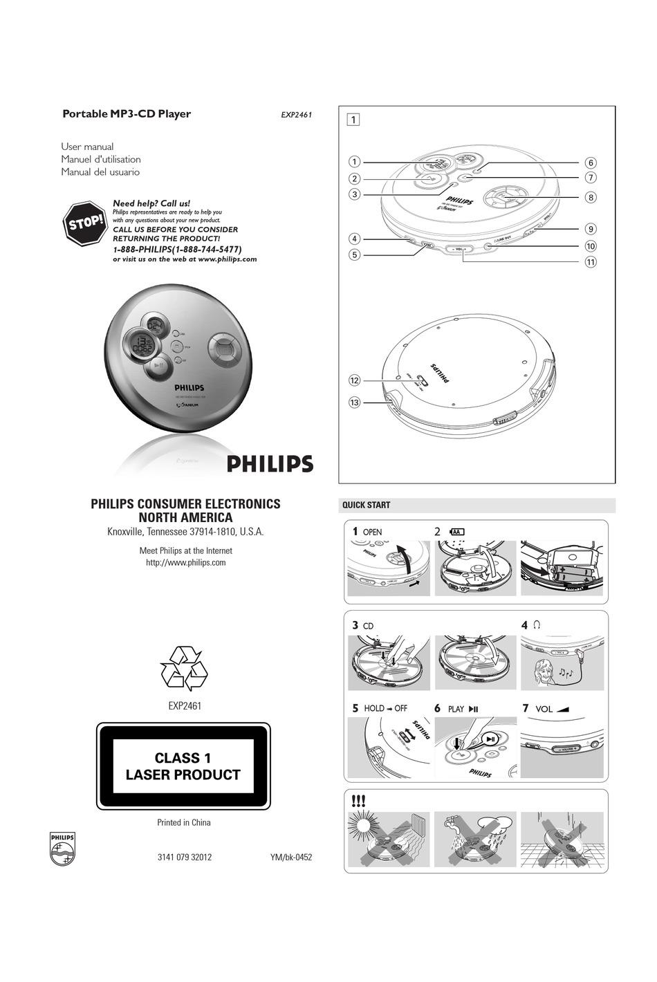 PHILIPS EXPANIUM EXP-2461 USER MANUAL Pdf Download