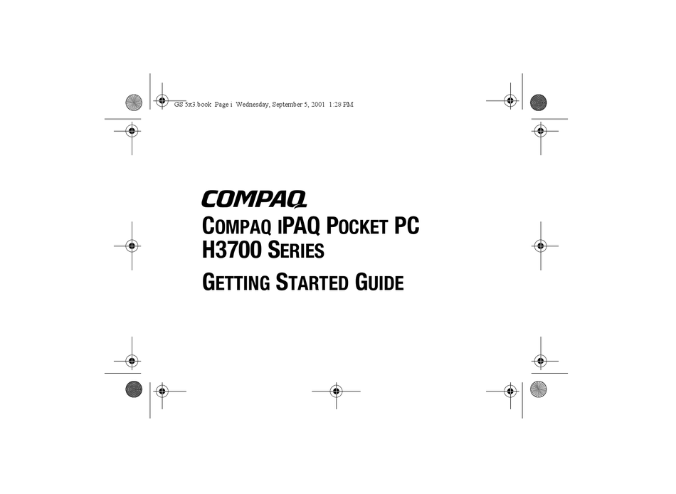 COMPAQ IPAQ H3700 SERIES GETTING STARTED MANUAL Pdf