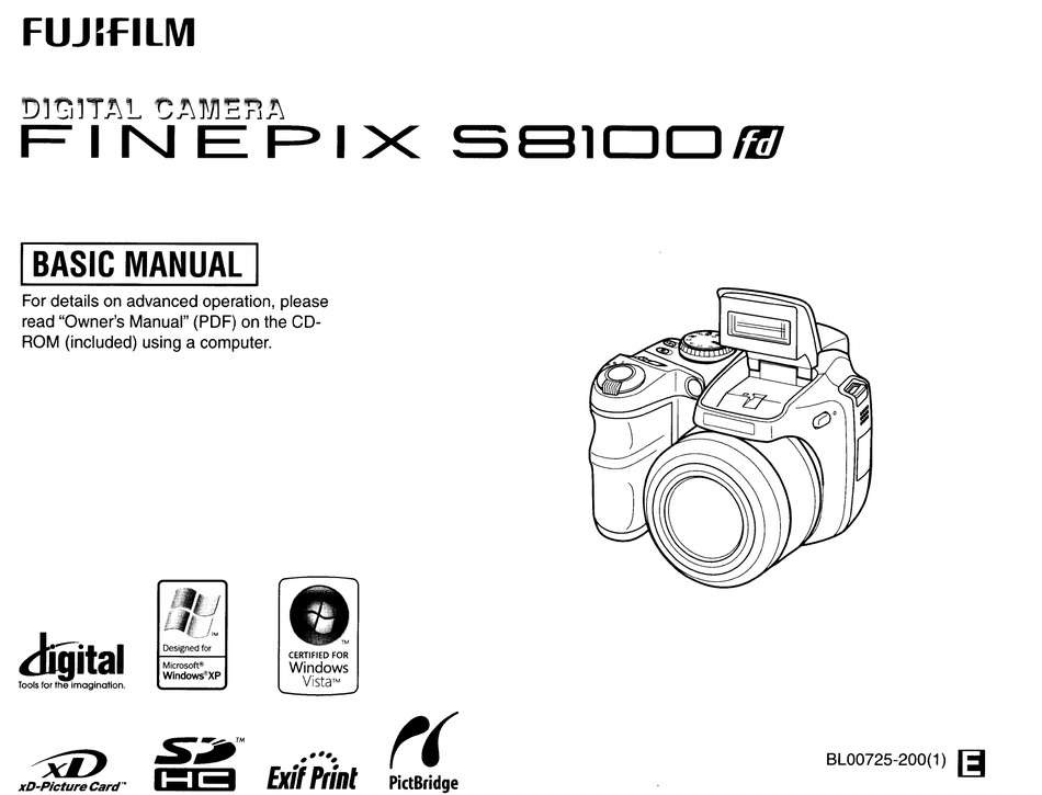 FUJIFILM FINEPIX S8100 FD BASIC MANUAL Pdf Download