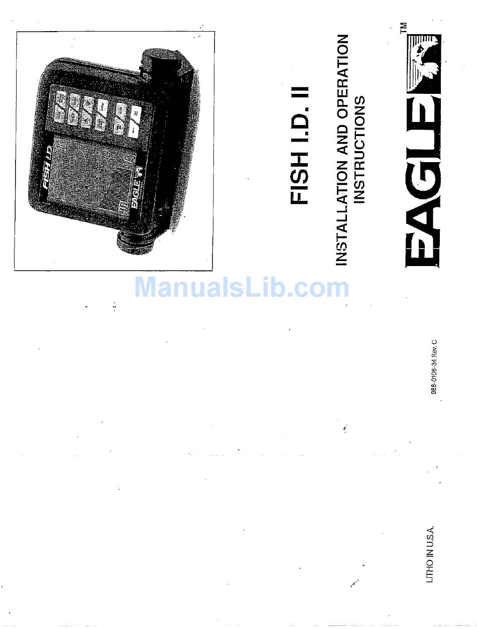 EAGLE FISH I.D. II INSTALLATION AND OPERATION INSTRUCTIONS