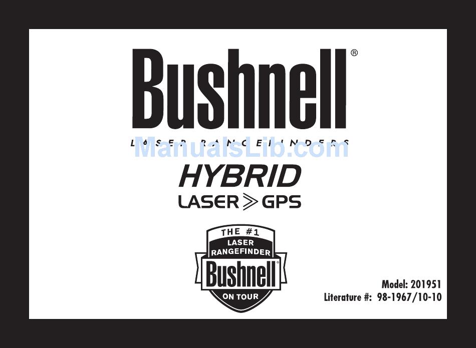 BUSHNELL HYBRID LASER GPS OWNER'S MANUAL Pdf Download