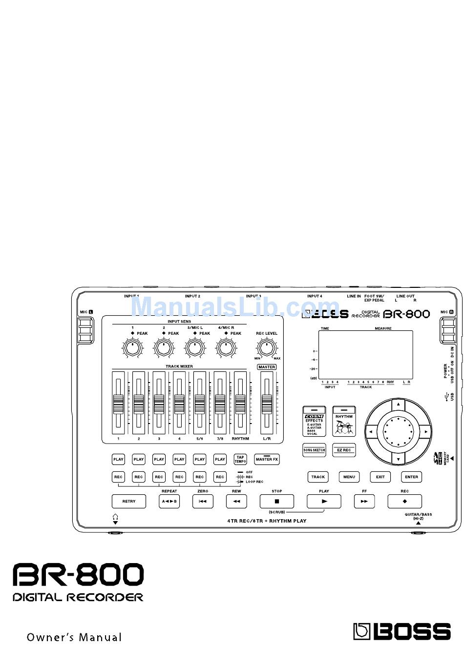 BOSS AUDIO SYSTEMS BR-800 OWNER'S MANUAL Pdf Download