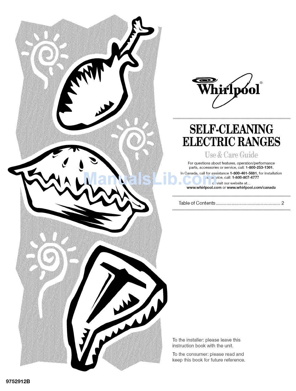 WHIRLPOOL GY396LXGB3 USE & CARE MANUAL Pdf Download