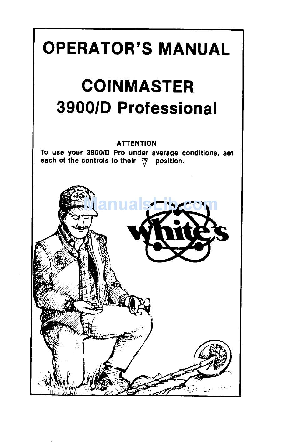 WHITE'S ELECTRONICS COINMASTER 3900/D PROFESSIONAL