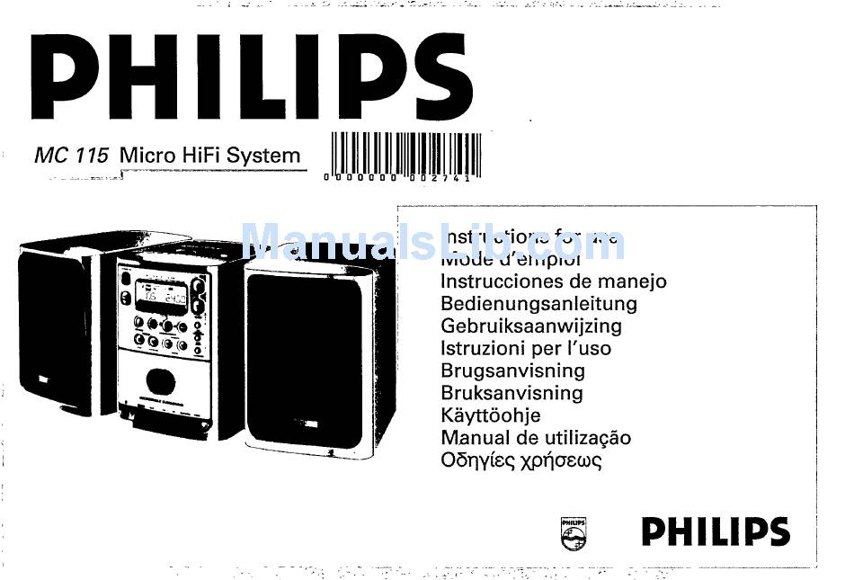PHILIPS MC 115 INSTRUCTIONS FOR USE MANUAL Pdf Download