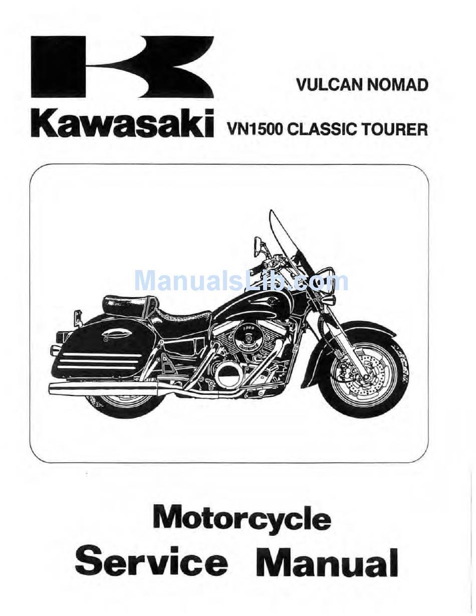 KAWASAKI VN1500 CLASSIC TOURER SERVICE MANUAL Pdf Download