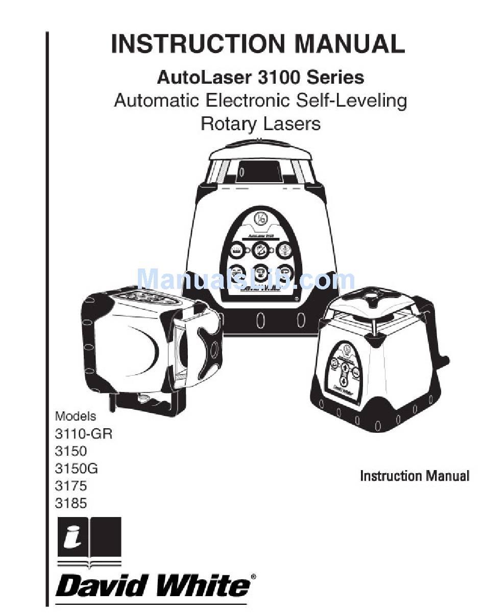 DAVID WHITE AUTOLASER 3110-GR INSTRUCTION MANUAL Pdf