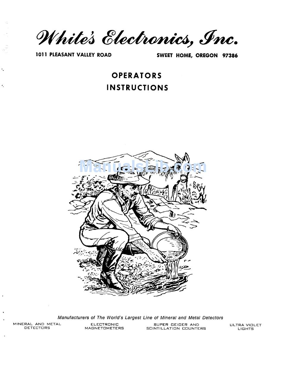 WHITE'S COINMASTER 2-TR OPERATING INSTRUCTIONS MANUAL Pdf