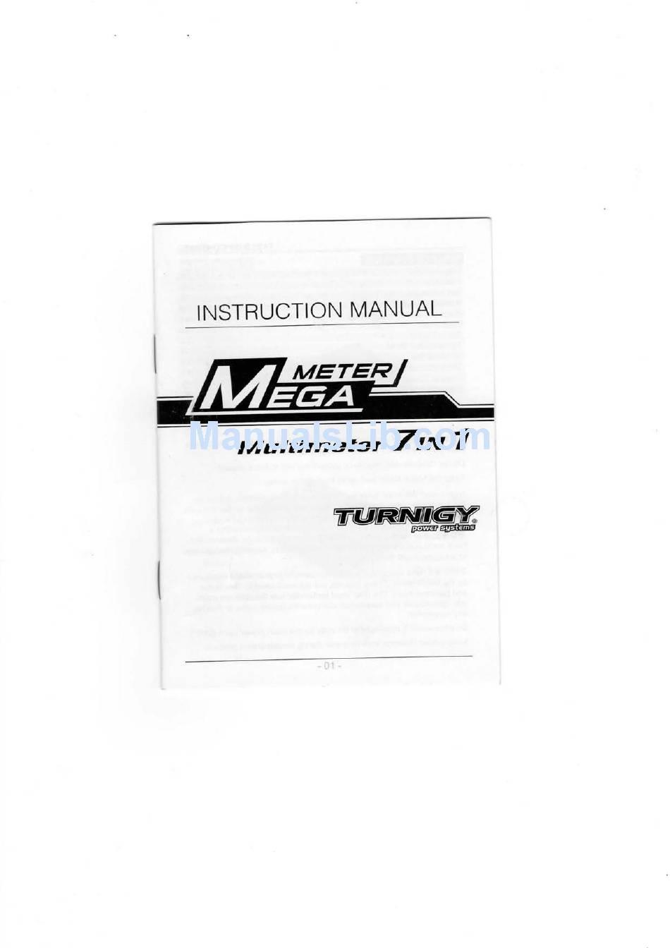 TURNIGY MEGA METER INSTRUCTION MANUAL Pdf Download
