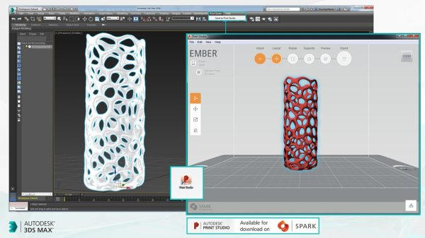 One-click Print Studio access | 3ds Max Features