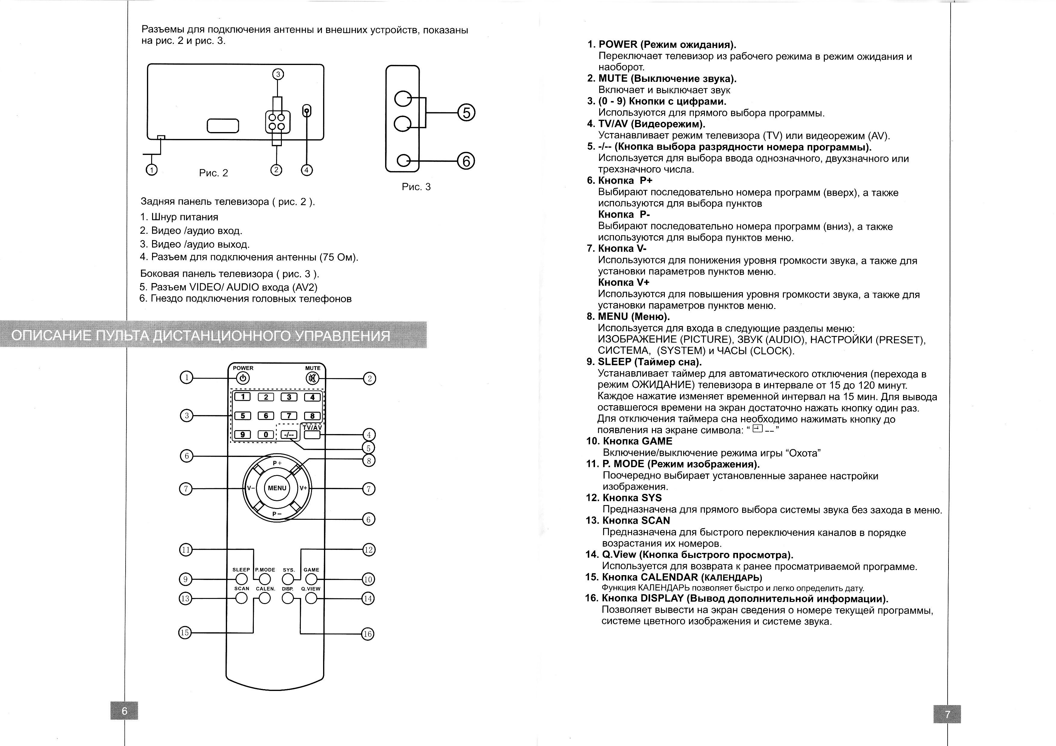 Инструкция телевизора ERISSON 21F5.