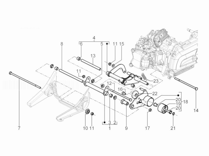 Сайлентблок мотора PIAGGIO (большой) 272750 RMS ITALY 12
