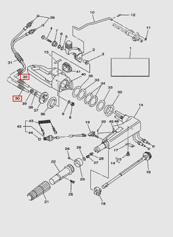 Трубка L75 для лодочного мотора T40 Sea-PRO (14-30