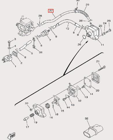 Шланг топливный для лодочного мотора F9,9 Sea-PRO