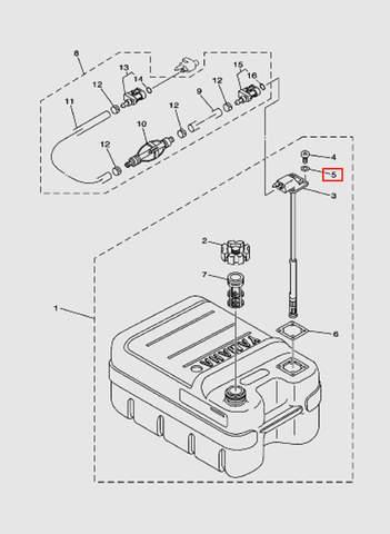 Топливный бак лодочного мотора SEA_PRO T15 и OTH 9,9