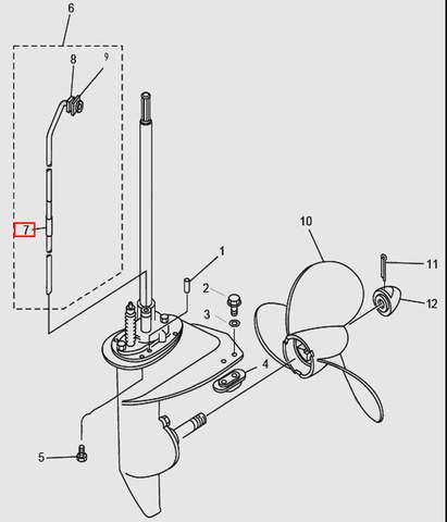 Запчасти редуктора ч.2 для лодочного мотора T9.8 Sea-PRO