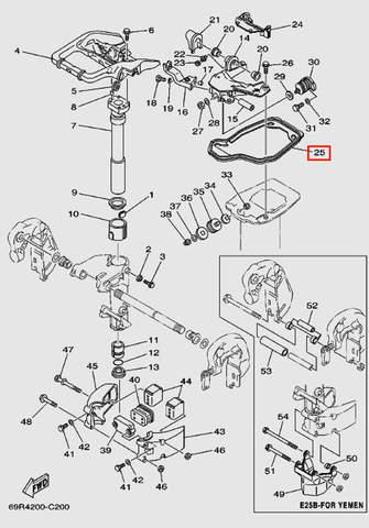 Уплотнитель для лодочного мотора Т30 Sea-PRO