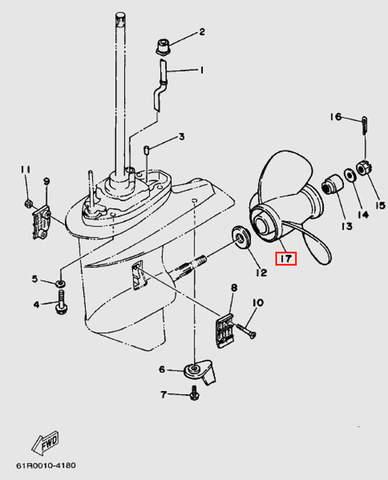 Запчасти нижнего редуктора для лодочного мотора T30 Sea-PRO