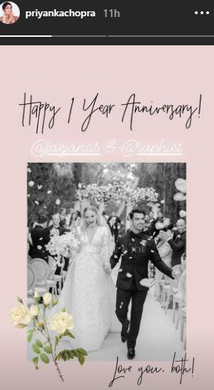 Priyanka Chopra Wishes Joe Jonas & Sophie Turner A Happy Wedding Anniversary In A Beautiful Way