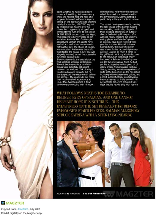 When Salman Khan Reportedly Hit Katrina Kaif With A Stick For Wearing A 'Cleavage-Revealing' Dress & Kareena Kapoor Khan Came To The Rescue, Read On