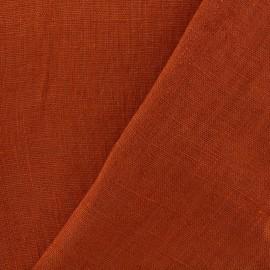 tissu lin lave thevenon orange safran x 10cm