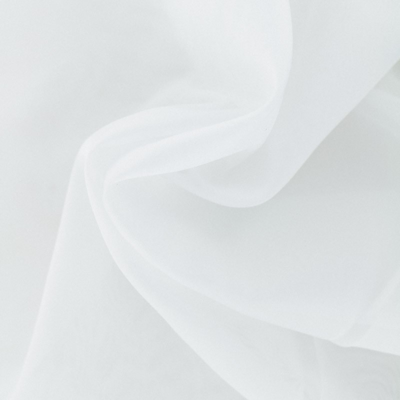 tissu organza mediterranee voilage grande largeur blanc