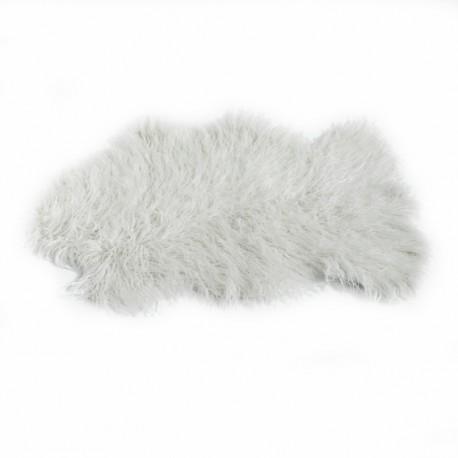 tapis peau de mouton 60x90 cm blanc casse