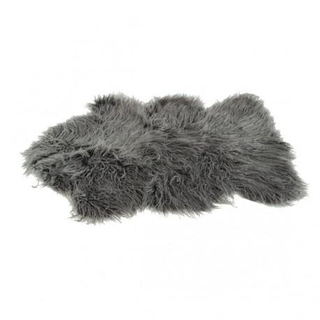 tapis peau de mouton 60x90 cm anthracite