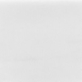 tissu toile de coton natte reversible blanc pur x 10cm