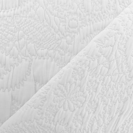 tissu jacquard matelasse venise blanc x 10cm