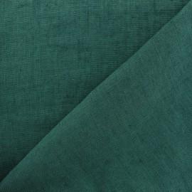 tissu lin lave thevenon vert paon x 10cm