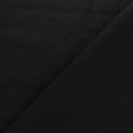 tissu voile de coton uni bianca noir x 10cm