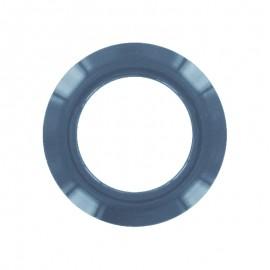 oeillet a clipper plastique rond bleu petrole