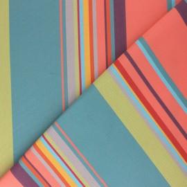 tissu toile plein air dralon calvi 320cm corail x 10cm