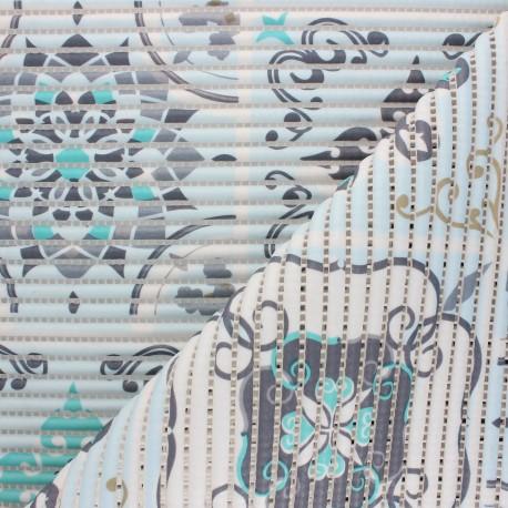 tapis mousse pvc anti derapant carreaux de ciment bleu x 10cm