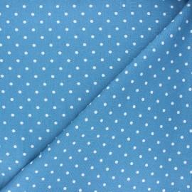 tissu lin viscose mathilda bleu houle x 10 cm