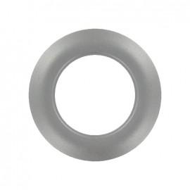 oeillet a clipper plastique rond metallise dark silver