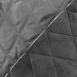 tissu matelasse envers minkee gris x 10cm