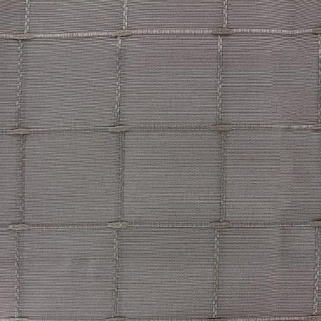coupon 176 cm x 280 cm tissu jacquard grande largeur isis 280 cm gris souris